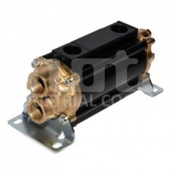 E065-161-2/CN-BR-D-AA Hydraulic oil cooler, marine version with drain and anodes