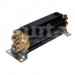 E065-241-2/CN-BR-D-AA Hydraulic oil cooler, marine version with drain and anodes