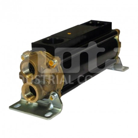 E083-196-2/CN-BR-D-AA Hydraulic oil cooler, marine version with drain and anodes