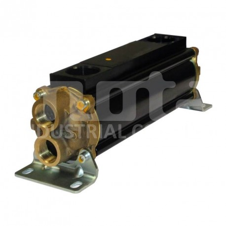 E083-283-2/CN-BR-D-AA Hydraulic oil cooler, marine version with drain and anodes