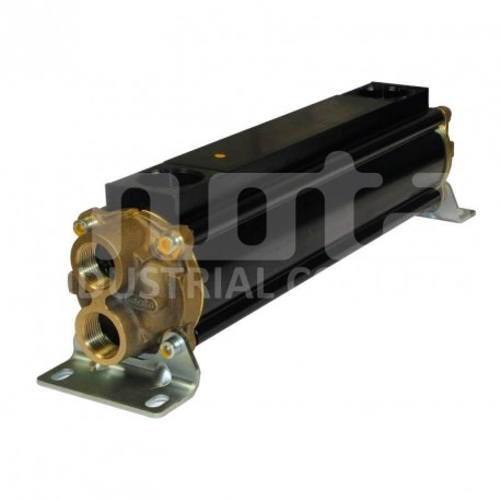 E083-411-2/CN-BR-D-AA Hydraulic oil cooler, marine version with drain and anodes