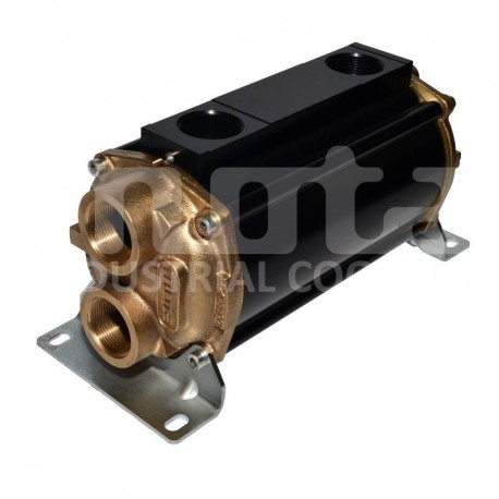 E135-283-2/CN-BR-D-AA Hydraulic oil cooler, marine version with drain and anodes