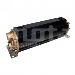 E135-411-2/CN-BR-D-AA Hydraulic oil cooler, marine version with drain and anodes