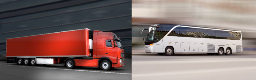 Trucks, buses and vehicules engine and gearbox cooling